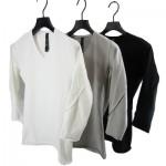 wjk cut tuck mid V 3/4 – compact tight jersey 7787 lj30 3colors 一枚で決まるカットソー!!
