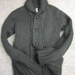 wjk shawl knit – low gage knit 6012 kw07 97 d.gray
