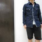 wjk western – right hand selvedge denim 4047 dn80 58 indigo  デニム ウエスタンシャツ