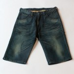wjk relax shorts – jersey like mid denim 5086 dj01 2colors ジャージ デニム ショーツ