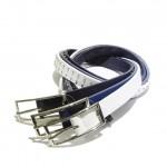 エッジの効いた スタッズベルト wjk studs belt  20mm. – cow 8875 bl30